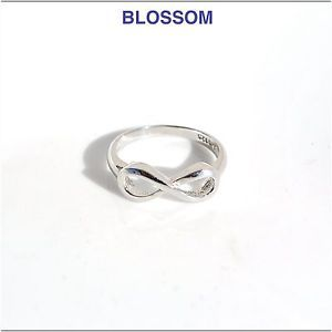 Anello infinito argento 925, infinity ring 925 silver