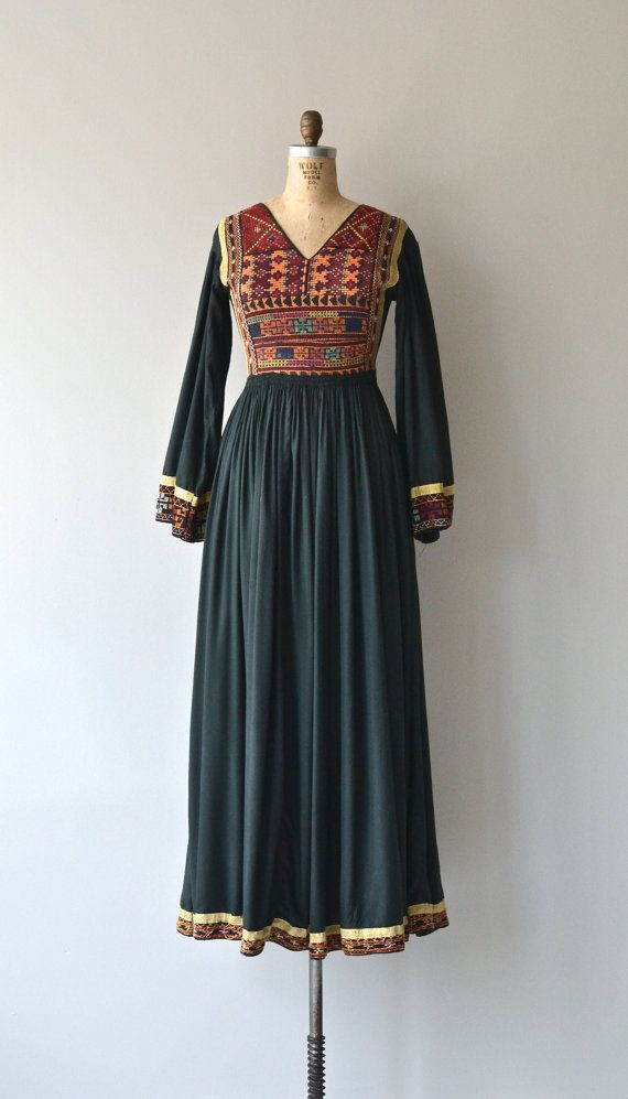 Afghani Kuchi dress vintage 1970s tribal dress 70s by DearGolden