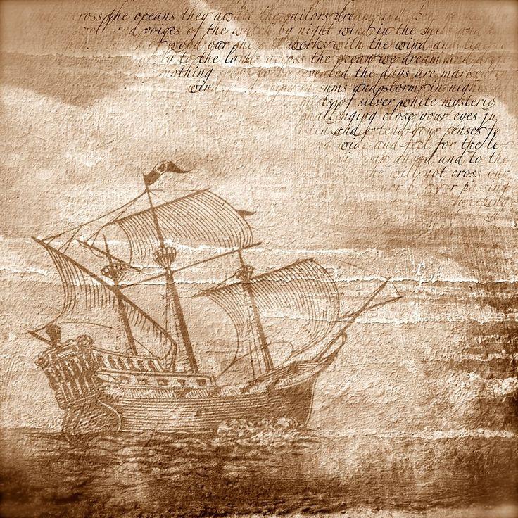 Днем рождения, открытки с кораблями антикварные