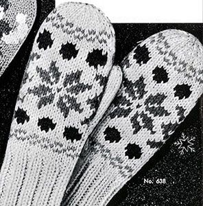 Link to download the FREE  knitting pattern for Children's Norwegian Mittens knit pattern published in Gloves and Mittens, Bernhard Ulmann #29.