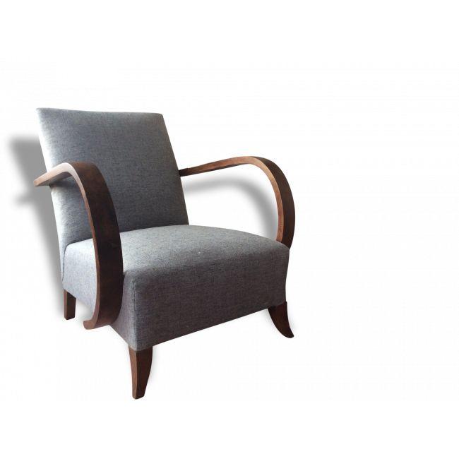 Jindrich halabala 1939 vendu par La ruée vers Laure - montigny (95 - Val-d'Oise). Hauteur : 70, Largeur : 83, Profondeur : 70, État : Bon état, Materiau : Bois, Style : Design, Couleur : Gris