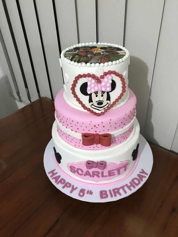 Minie Mouse cake