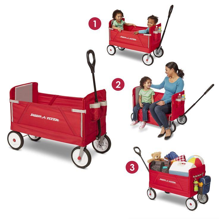 Radio Flyer 3in1 Wagon in 2019 Kids wagon, Folding