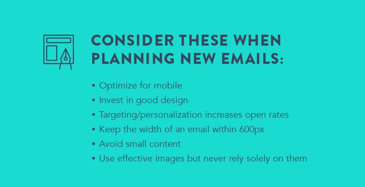 #Email #design tips for planning new emails
