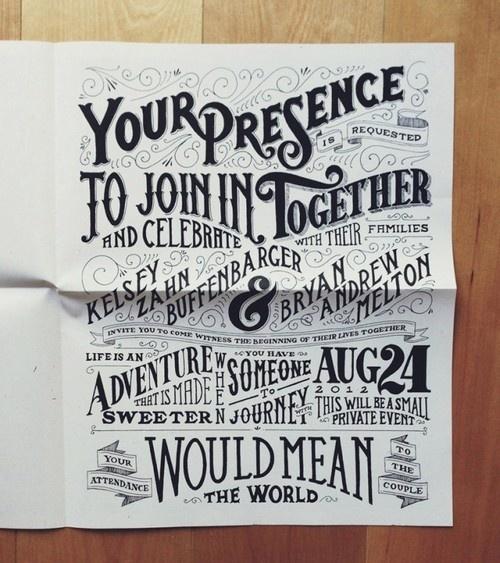 255 best wedding invitations i lovelike 3 images on amazing typography wedding invitation by drew melton stopboris Gallery