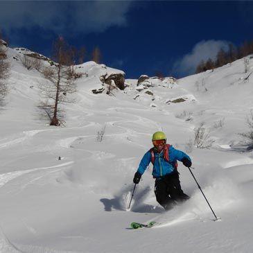 Week End Ski Hors Piste Alpes Départ Briançon Sestrières Italie 3 jours