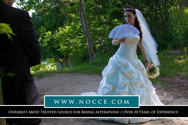 Best Seamstress for Bridal & Bridesmaid Dress in Waterloo Area: Nocce Bridal Alterations #NocceBridalAlterations #SewingStudio #Waterloo #BridalGown