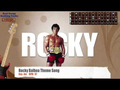 Rocky Balboa Theme Song Bass Backing Track with chords and lyrics
