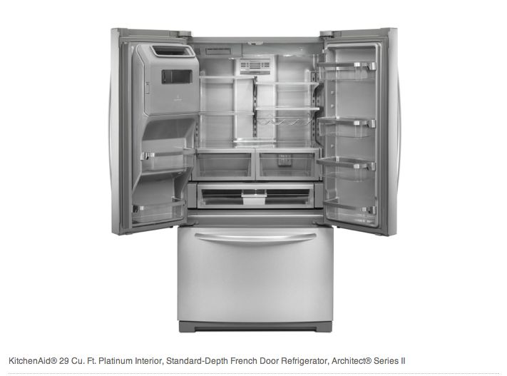 Kitchenaid 174 Preserva 174 29 Cu Ft French Door Refrigerator