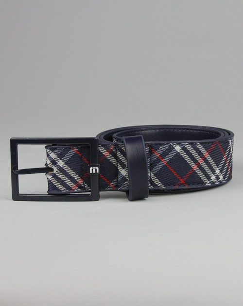 Travis Mathew Shop | Bruno Belt - Blue Plaid