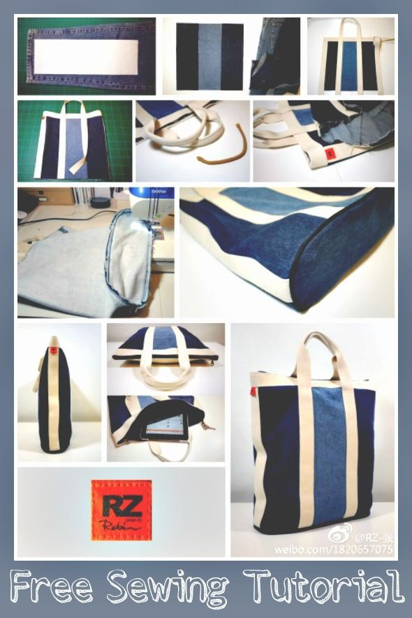 Nautical-Style Denim Tote - Free Visual Guide | Correct Needle and Thread Combos: Denim