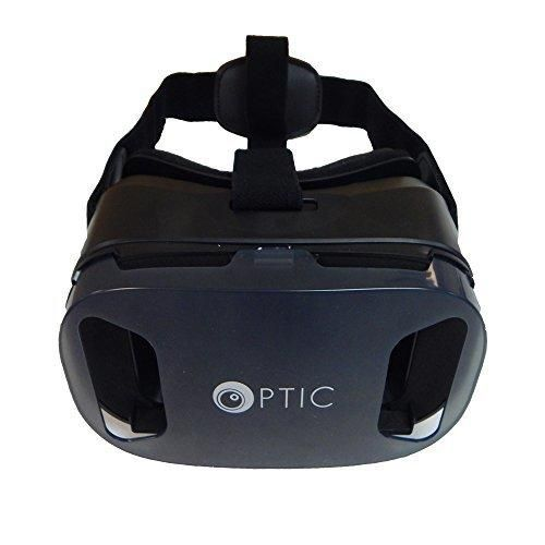 OPTIC 3D VR Headset VR Goggles 3D VR Glasses VR Box Virtual Reality Headset Glasses for 3D Movies and Games for Apple iPhone Samsung Galaxy Note HTC Google Nexus LG More Smartphones (Black)