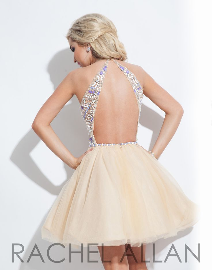 Rachel Allan 4061 Nude Purple Homecoming Dress