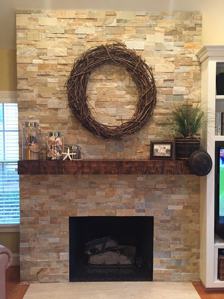 Best 25+ Stone fireplace makeover ideas on Pinterest | Fireplace redo, Fire  place mantel decor and Rustic mantle