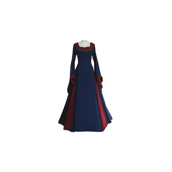 Ladies Medieval Renaissance Costume And Headdress Size 8 10 ❤ liked on Polyvore featuring costumes, womens renaissance costume, victorian halloween costumes, blue halloween costumes, renaissance costumes and womens costumes