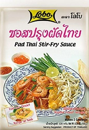 Pad Thai Stir-fry Sauce with Roasted Peanut Included, Thai Noodle Sauce, Fast Shipping and Excellent Quality With Free Gift Pad Thai Stir-fry Sauce Roasted Peanut Included Thai Noodle Sauce, Lobo Cooking Food, 120 G