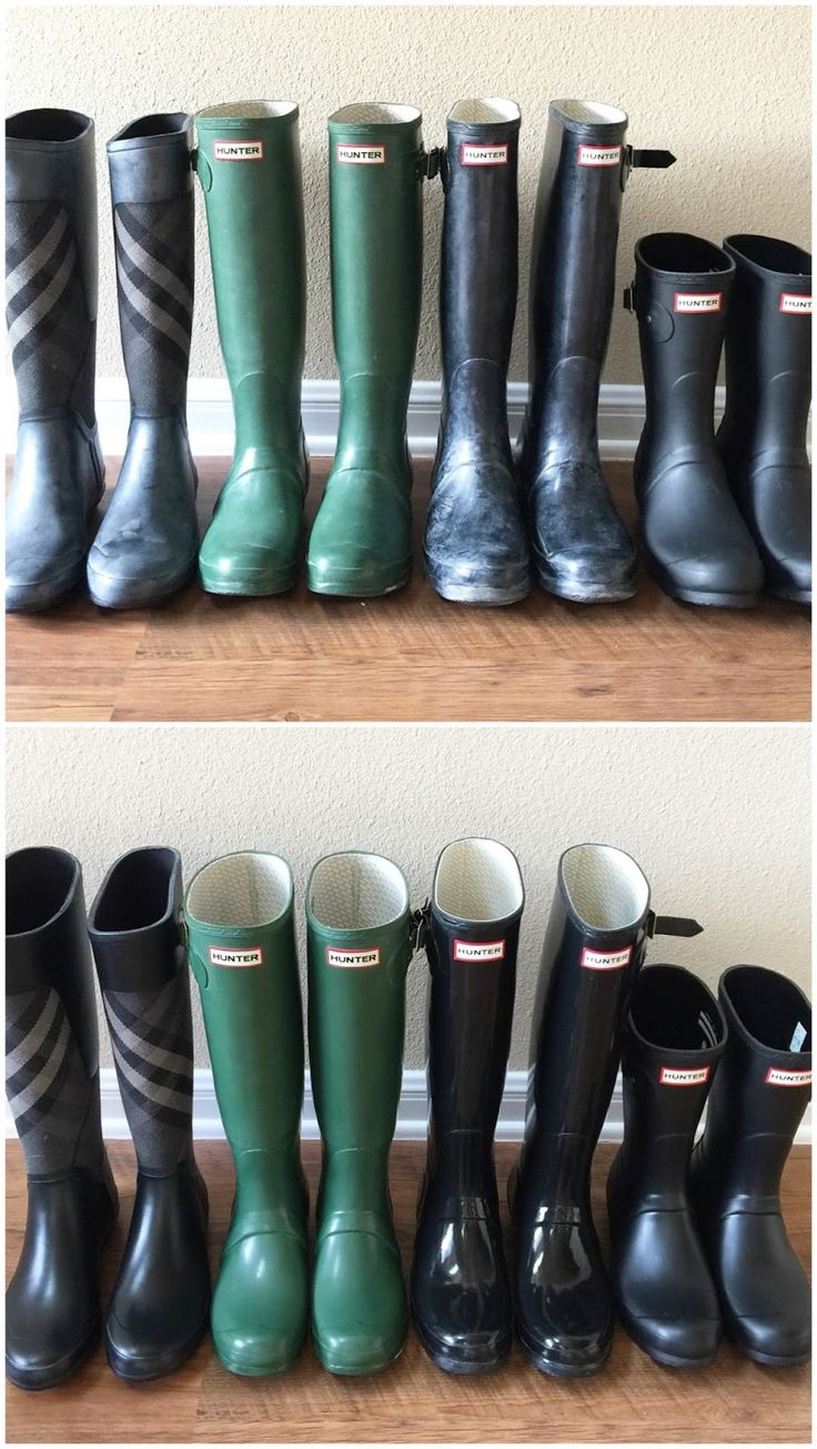Rain Boot Maintenance - at home Hunter Boot cleaner to remove the bloom!