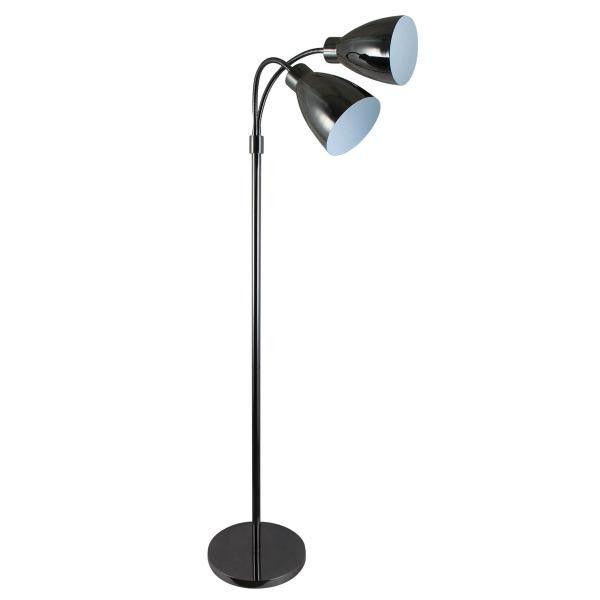 Retro Gunmetal Floor Lamp – Luminous Lamps