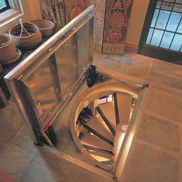 Cool way to close off a spiral staircase!