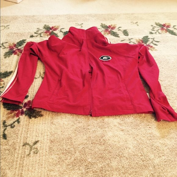 UGA red zip hoodie! Worn a hand full of times! UGA red zip up hoodie! Worn a hand full of times! Get the UGA gear for football games🏈 this fall! Jackets & Coats