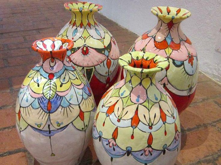 Flower vases - Maureen Visagé http://www.maureenvisage.co.za/