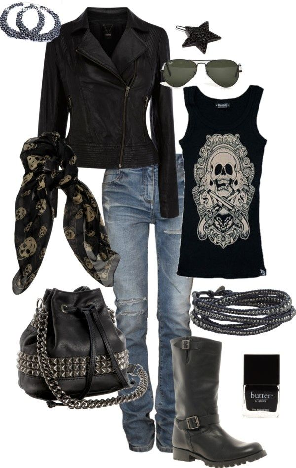 Edgy Casual- Perfect outfit for a day off....love it...but would do a heeled boot....more feminine. ....