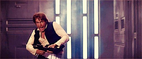 The beauty that is a scared Han Solo.