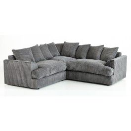 Ferguson Fabric Grey Corner Sofa - Fabric Sofas - Sofas