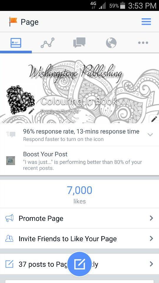 Follow me on facebook - Colouring In Book