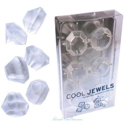 Jewel Ice Cube Tray Makes Ice Cubes That Look like Diamonds! Ohhhh Fancy Ice!
