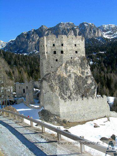 Andraz Castle, also known as Buchenstein Castle is a ruined castle located in the Dolomites, south of the Falzarego Pass in Livinallongo del Col di Lana, Belluno Province, Italy. Veneto