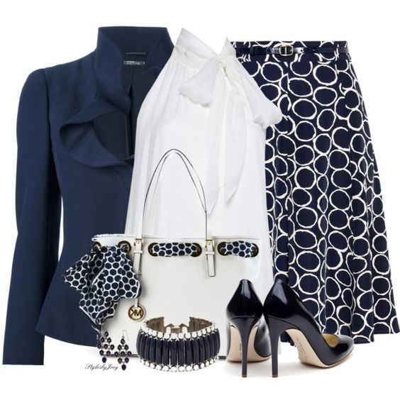 Business Outfit in dunkelblau (Farbpassnummer 11) …