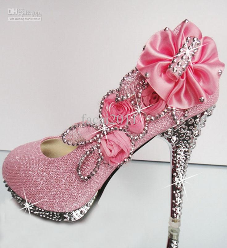 Wholesale Hot 2013 Diamond Wedding The Bride Wedding Shoes high heel wedding shoes pink wedding shoes, $39.77/Pair | DHgate