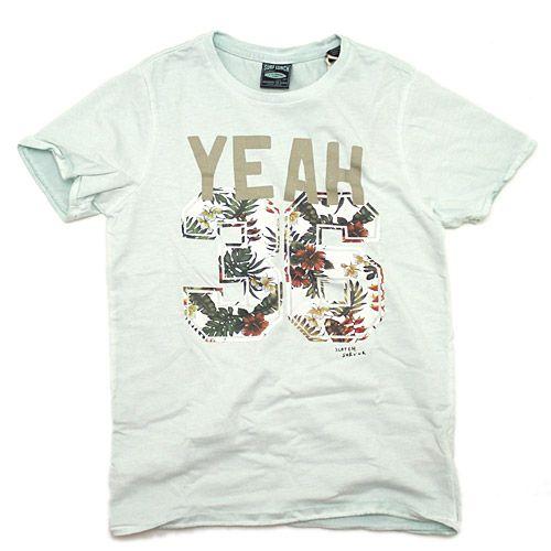 SCOTCH&SODA(スコッチ&ソーダ):SHRUNK/ロゴプリントTシャツ(YEAH・Hawaii) ブルー(56) の通販【ブランド子供服のミリバール】