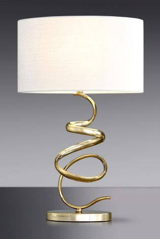 Buy Ribbon Gold Touch Lamp from the Next UK online shop