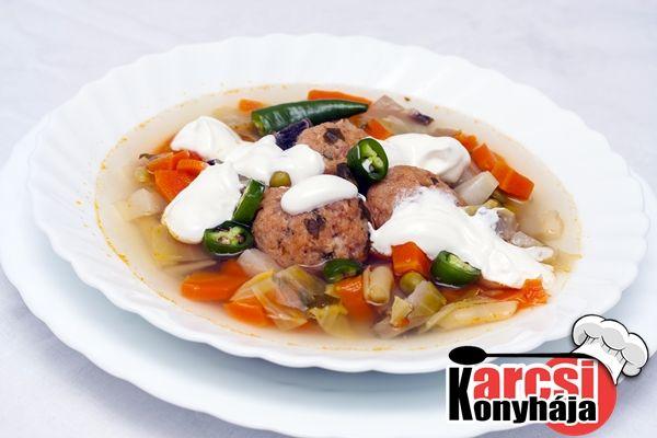 Húsgombóc csorba gazdagon - Karcsi konyhája