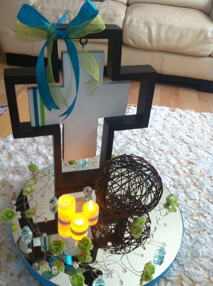 centro de mesa para primera comuni n comuniones pinterest mesas. Black Bedroom Furniture Sets. Home Design Ideas