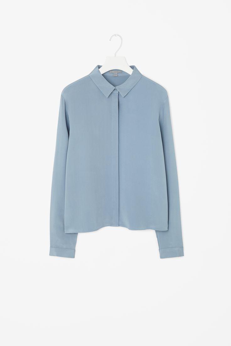 Straight silk shirt