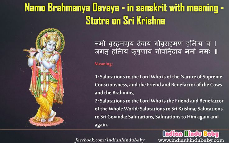Know the meaning of sanskrit slok of Lord Krishna - 'Namo Brahmanya Devaya'