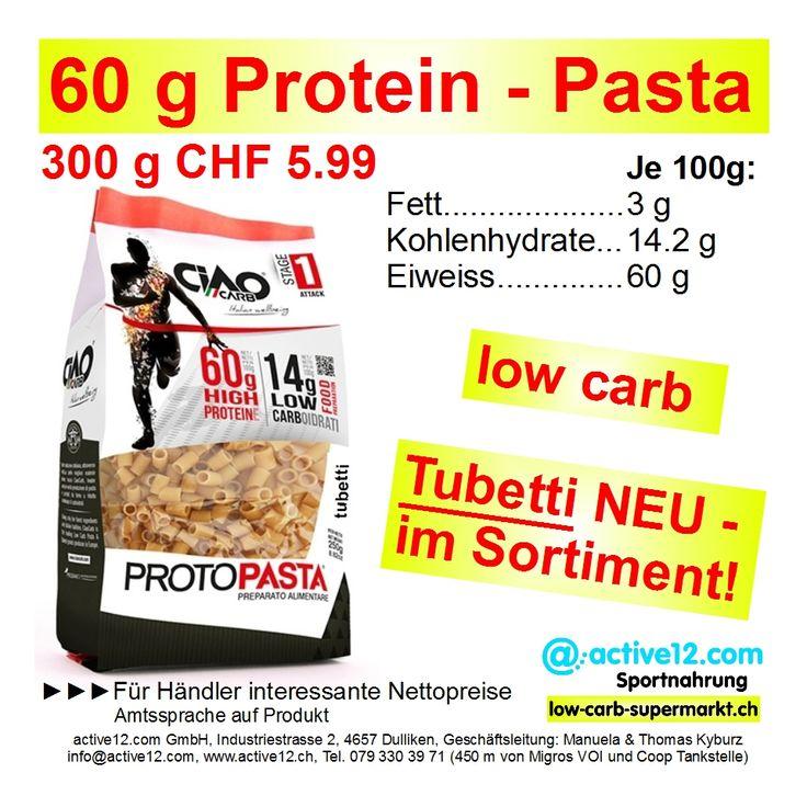 Protein-Pasta Form Tubetti - NEU IM SORTIMENT zum Preis von CHF 5.99/300g-Beutel. ►►► 60 % Protein, 14.2 % Kohlenhydrate! #PROTOPASTA #CiaoCarb #Nettopreis #Händler #Wiederverkauf #Tubetti #Ballaststoffe #Nahrungsfasern #lowcarb #lowcarbs #lowcarbschweiz #fitness #fitnessschweiz #lowcarbswitzerland #lowcarbfood #lowcarbdiet #highprotein #hoherProteingehalt #Muskelaufbau #Bodybuilding #Kraftsport #abnehmen #abnehmenschweiz #eatclean #fitness #fitnessschweiz #active12 #natural