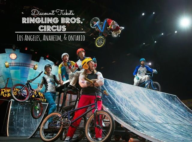 Discount tickets to Ringling Brothers Circus coming to Los Angeles, Anaheim & Ontario. www.Anytots.com for dates & details.
