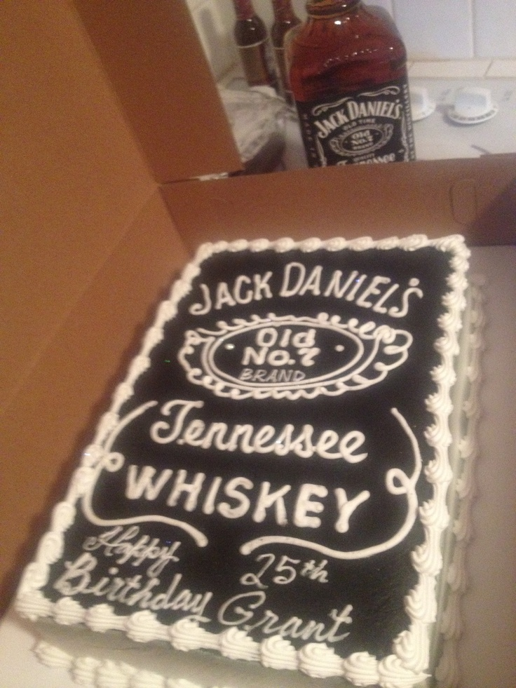 Jack Daniels Cake - birthday cake idea for the hubs.  :)
