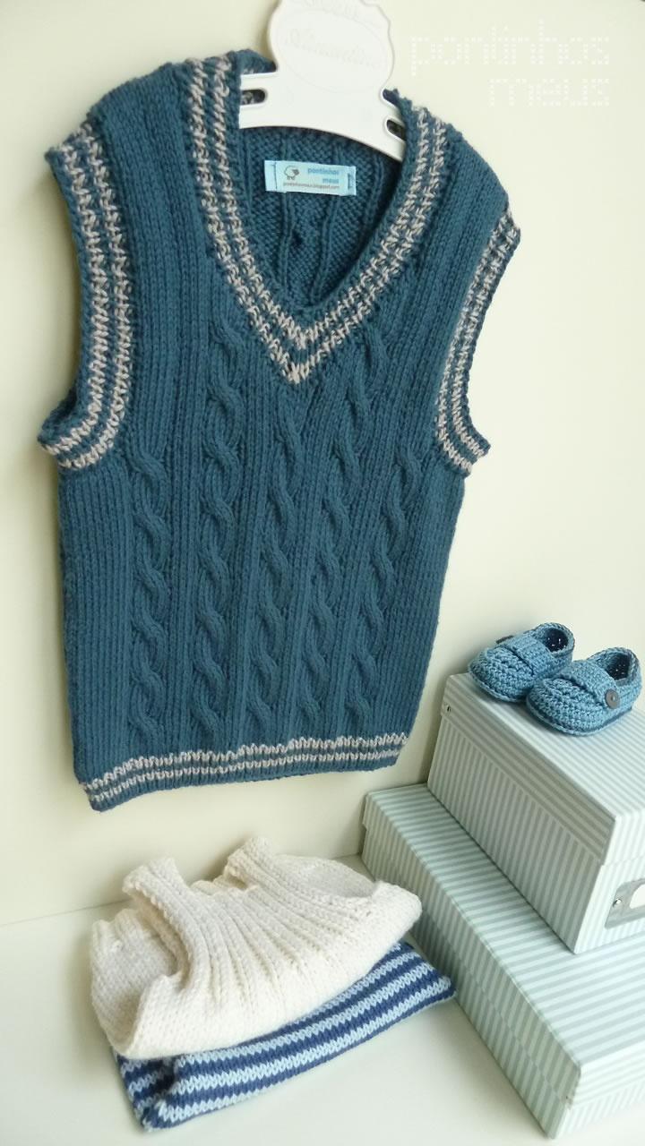 pontinhos meus: Colete menino - Blue Boy Vest