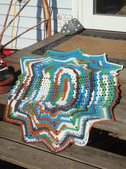 Crochet Oval Afghan Pattern : ~ Dlys Hooks and Yarns ~: ~ Ripples & Shells baby blanket ...