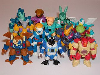 "Battle Beasts are 2"" anthropomorphic animal/robotic hybrid figurines released by Hasbro in 1986. Each Beast had heat sensitive sticker on their chest. When rubbed, it would reveal if the Battle Beast was Fire, Wood or Water. Each Beast also carried their own weapon..."