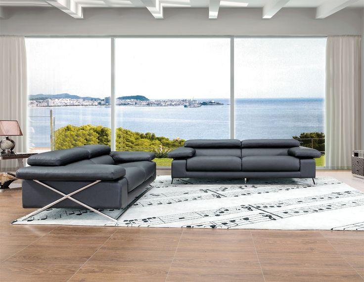Divani Casa 513 - Modern Italian Leather Sofa Set