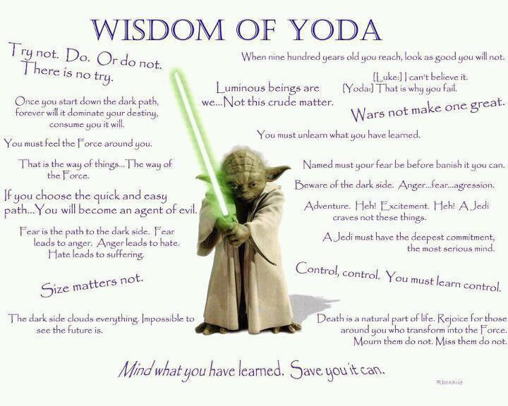 "My fav isn't on the list - ""Strong am I with the force"""