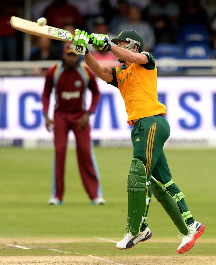 Faf du Plessis played several inventive shots, South Africa v West Indies, 2nd T20, Johannesburg, January 11, 2015