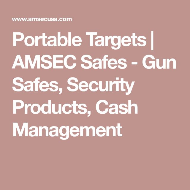 Portable Targets | AMSEC Safes - Gun Safes, Security Products, Cash Management