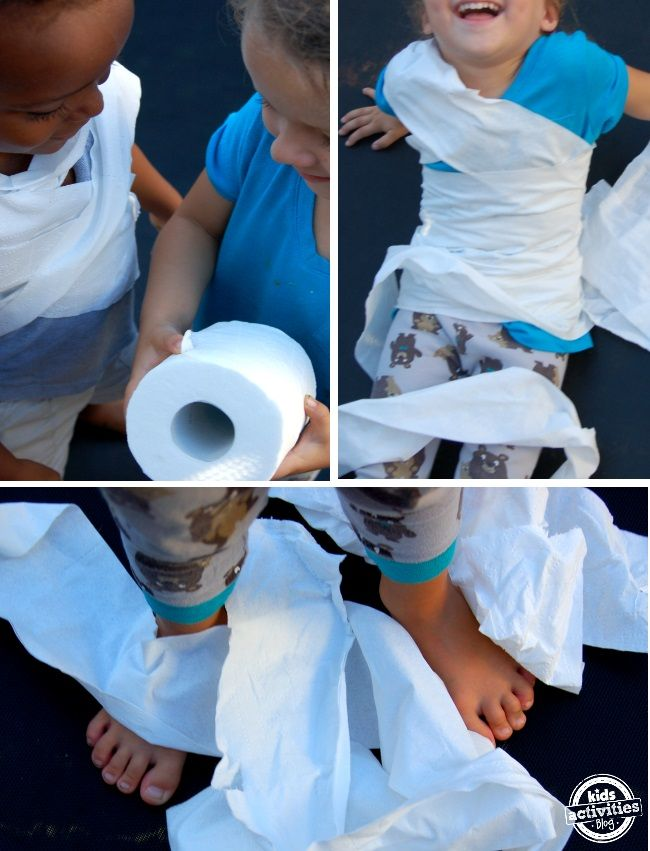 Looking for a great Halloween game to play with your kids? Check out this idea for some Halloween fun as a family with the Mummy Game. We love family fun and silliness here at Kids Activities Blog! Ah… the lure of the toilet paper roll. I don't know about you, but I have followed my …